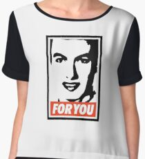 Nathan for You Obey  Chiffon Top