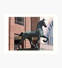PLAZA HORSE SCUPTURE Art Print