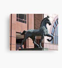 PLAZA HORSE SCUPTURE Canvas Print