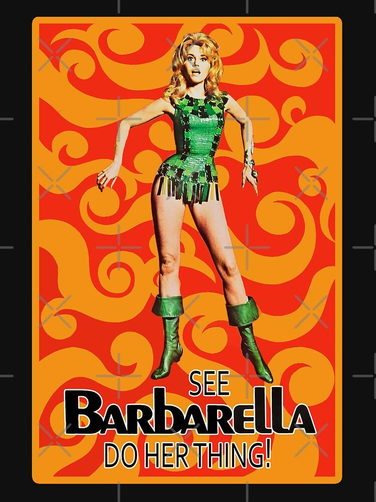 Barbarella - Poster Classic Science Fiction Cult Movie by Antxoita