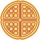 Waffle Sticker by DetourShirts