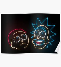 Póster 'Re Neon Morty