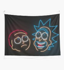 We're Neon Morty Wall Tapestry