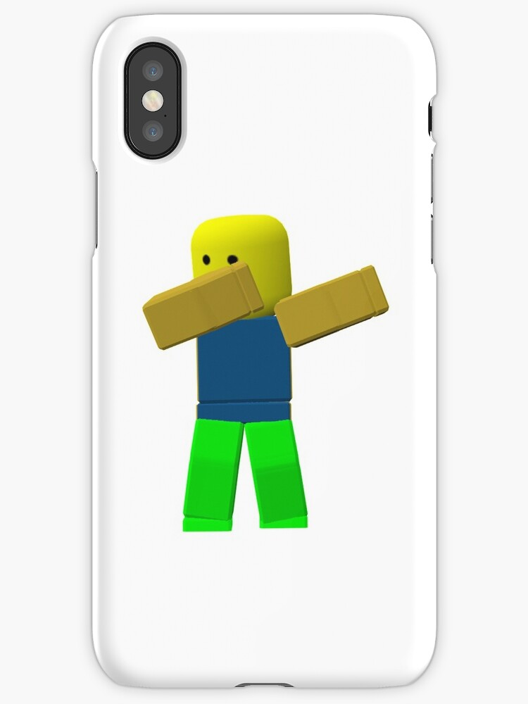 Quot Cool Roblox Noob Dabbing Stickers And More Quot Iphone Cases