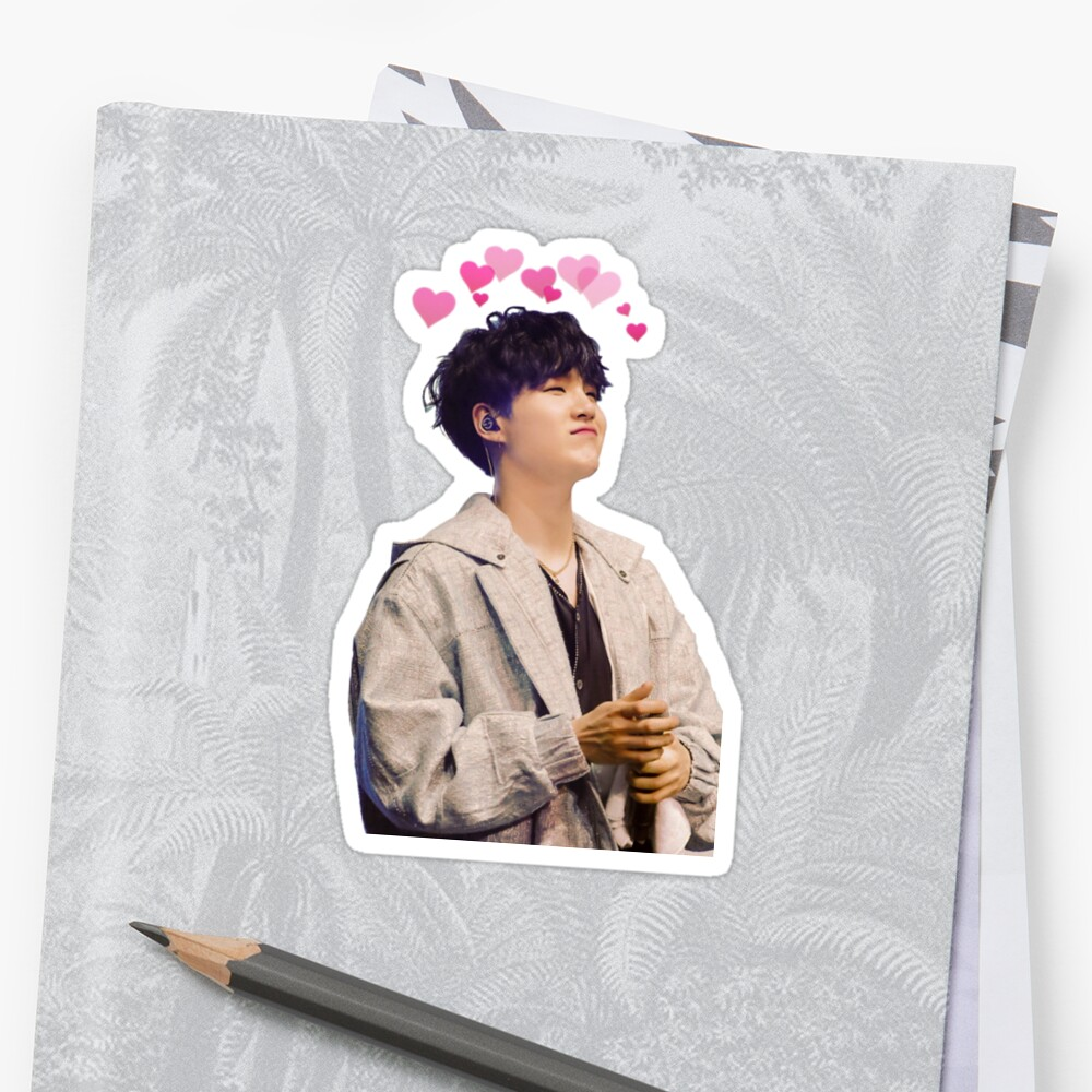 Quot Bts Suga Quot Sticker By Twmk Redbubble