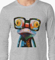 Hipster Frog Nerd Glasses Long Sleeve T-Shirt