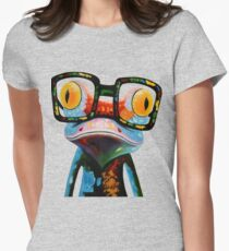 Hipster Frog Nerd Glasses Women's Fitted T-Shirt