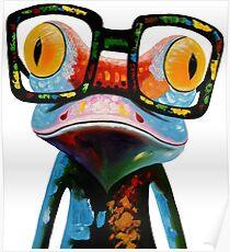 Hipster Frog Nerd Glasses Poster