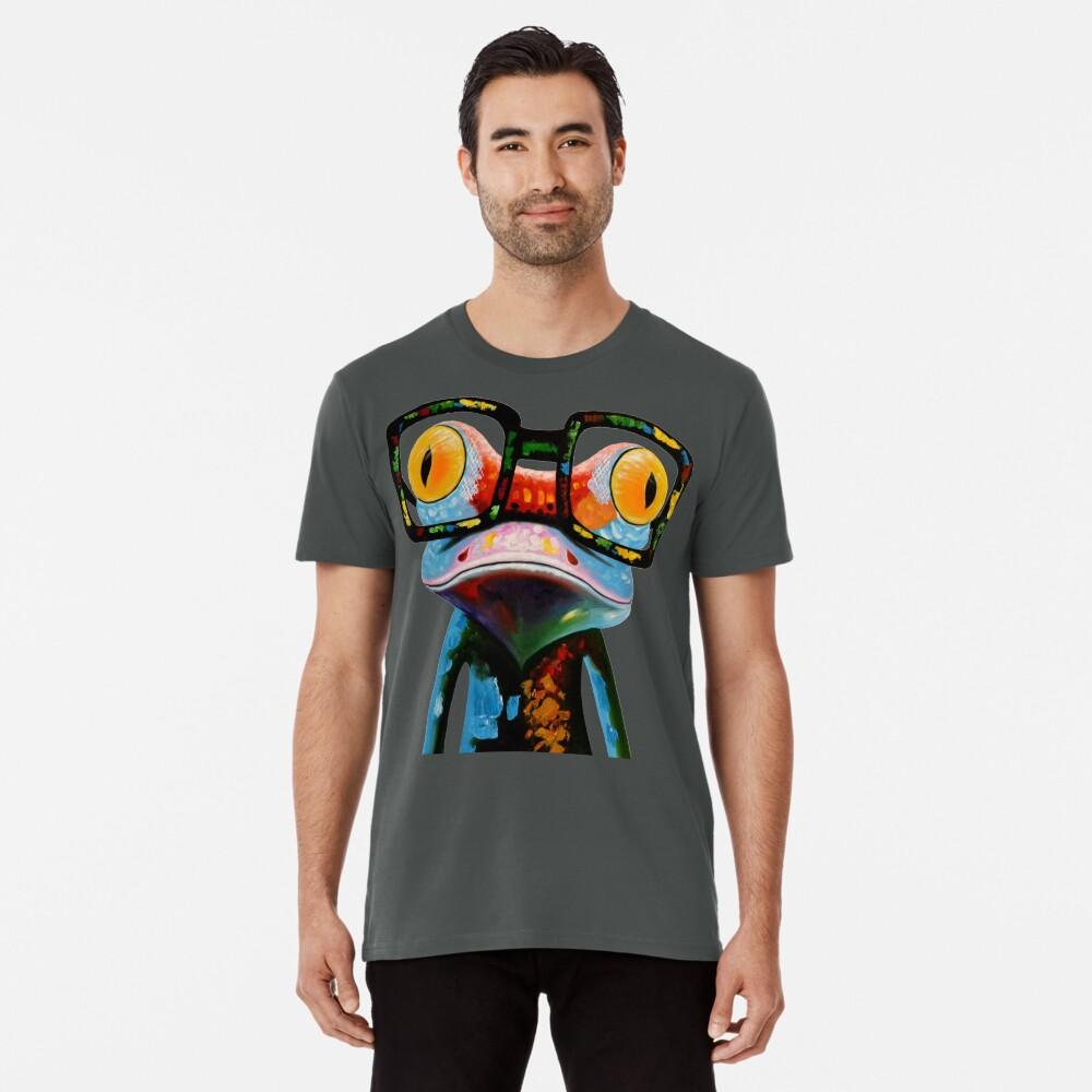 Hipster Frog Nerd Glasses Camiseta premium