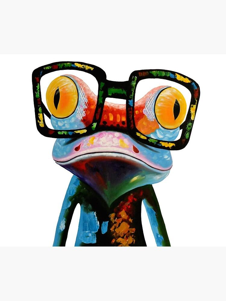 Hipster Frog Nerd Glasses de hilda74