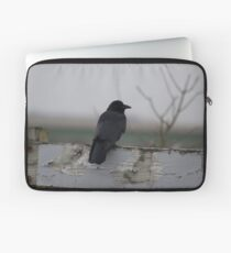Raven on a Fence Laptop Sleeve