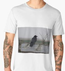 Raven on a Fence Men's Premium T-Shirt