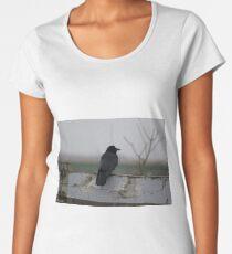 Raven on a Fence Women's Premium T-Shirt