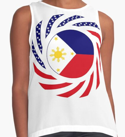 Filipino American Multinational Patriot Flag Series  Sleeveless Top
