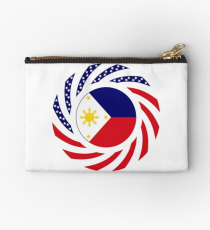 Filipino American Multinational Patriot Flag Series  Zipper Pouch