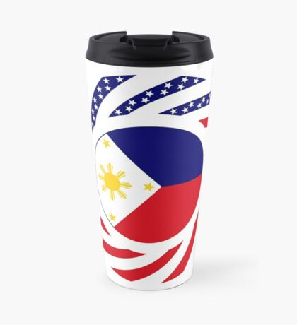 Filipino American Multinational Patriot Flag Series  Travel Mug