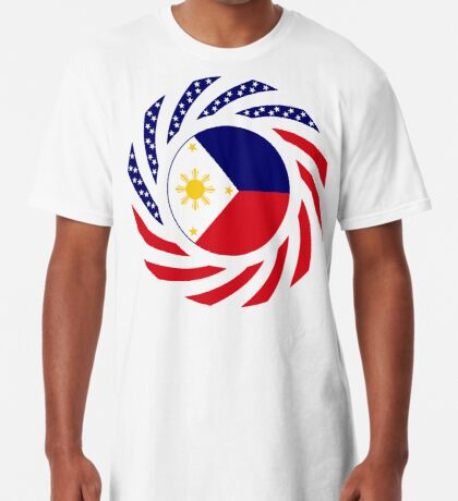 Filipino American Multinational Patriot Flag Series  Long T-Shirt