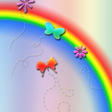 Rainbows, Butterflies and Flowers by Janey76