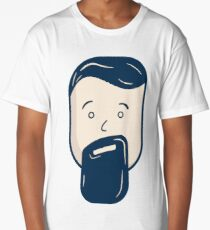 Bearded Man Long T-Shirt