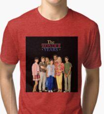 The Wonder Years Family Black Backround (Custom) Tri-blend T-Shirt