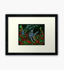 MUSIC IS HIS OXYGEN! Framed Print