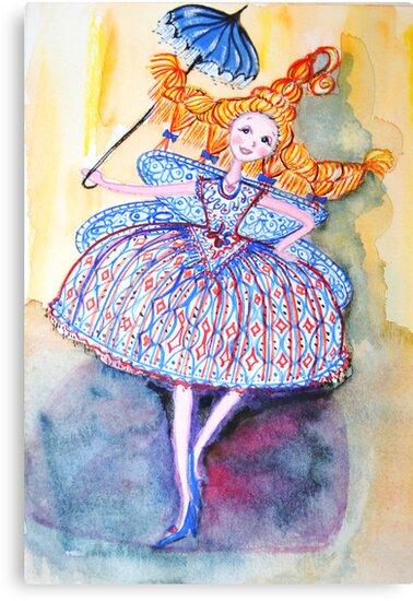 Venice Parasol Girl by Lorna Gerard