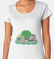 Animal Crossing Pocket Camp Market Place Women's Premium T-Shirt