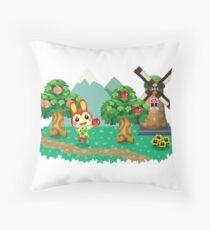 Animal Crossing Pocket Camp Bunnie Throw Pillow