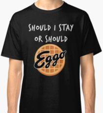 Fremde Dinge - Soll ich bleiben oder sollte - Eggo Parodie Classic T-Shirt