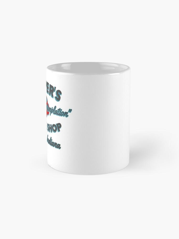 Alternate view of Hopper's Coffee Shop. Coffee and Contemplation Mug