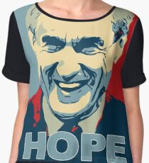 Robert Mueller HOPE in Obama Hope Poster style Anti-Trump Chiffon Top