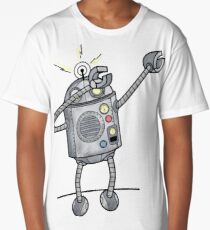 Dabbing robot Long T-Shirt