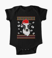 Ugly Christmas Gifts Funny Xmas Cow Gifts For Cow Lover One Piece - Short Sleeve