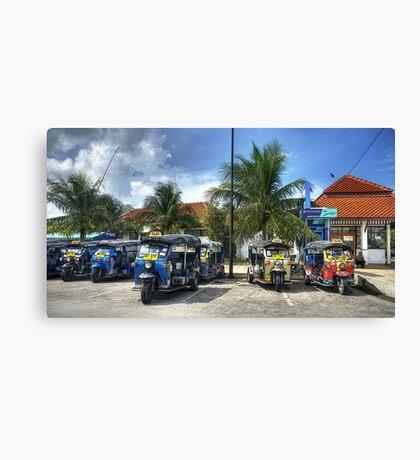 Tuktuks Canvas Print