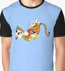Calvin and Hobbes happy Graphic T-Shirt