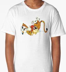 Calvin and Hobbes happy Long T-Shirt