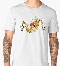 Calvin and Hobbes happy Men's Premium T-Shirt