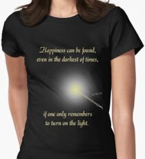 HP happiness quote Women's Fitted T-Shirt