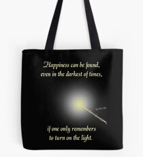 HP happiness quote Tote Bag