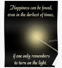HP happiness quote Poster