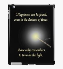 HP happiness quote iPad Case/Skin