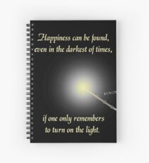 HP happiness quote Spiral Notebook