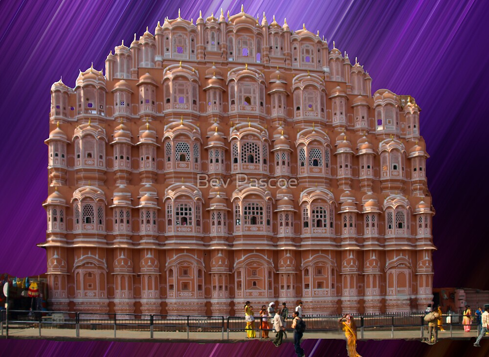 Palace of the Winds, Jaipur, Rajasthan, India  by Bev Pascoe
