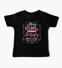 Funny May Birthday Gifts May Girl Like A Butterfly Kids Clothes