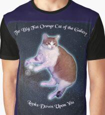 Funny Galaxy Fat Orange Cat  Graphic T-Shirt