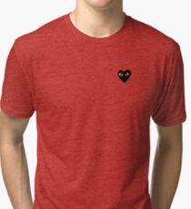 comme des garcons black heart Tri-blend T-Shirt