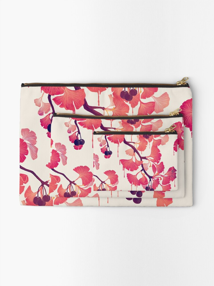 Alternate view of O Ginkgo Zipper Pouch
