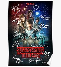 Signed Stranger Things Poster Poster