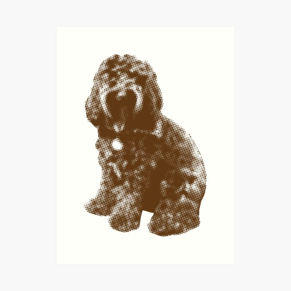 Chocolate Cockapoo Fur Baby (White) Art Print