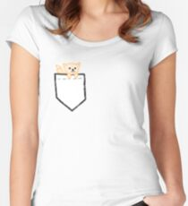 Pocket Shiba Women's Fitted Scoop T-Shirt